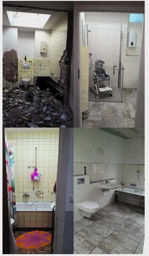 Barrierefreies Badezimmer für schwerbehinderte Tochter